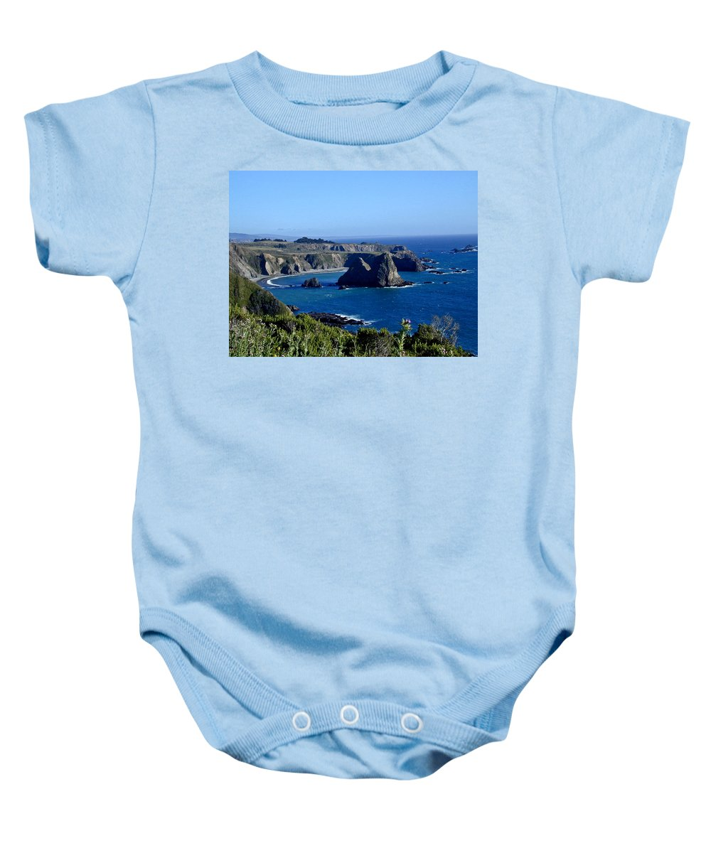 Sea Baby Onesie featuring the photograph Sea Coast Of Northern California by Douglas Barnett