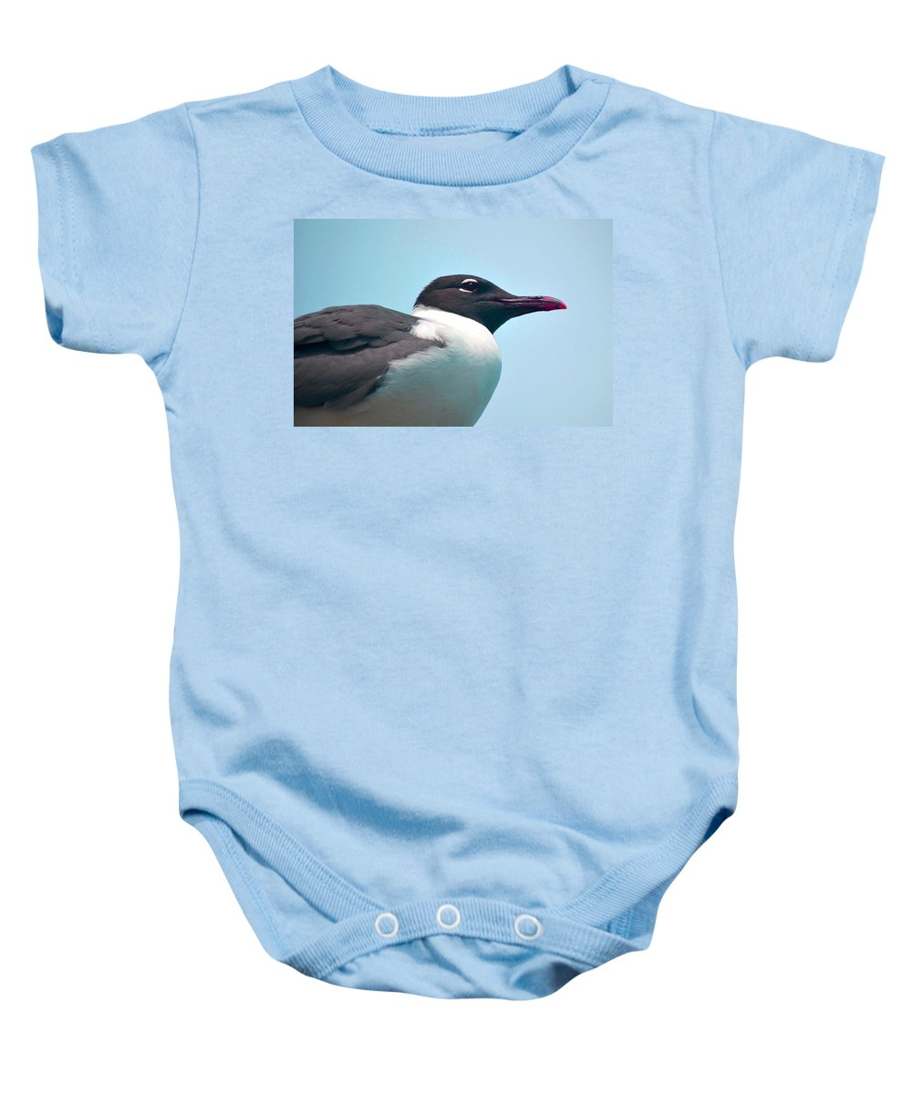 Seagull Baby Onesie featuring the photograph Seagull Portrait by Sandi OReilly