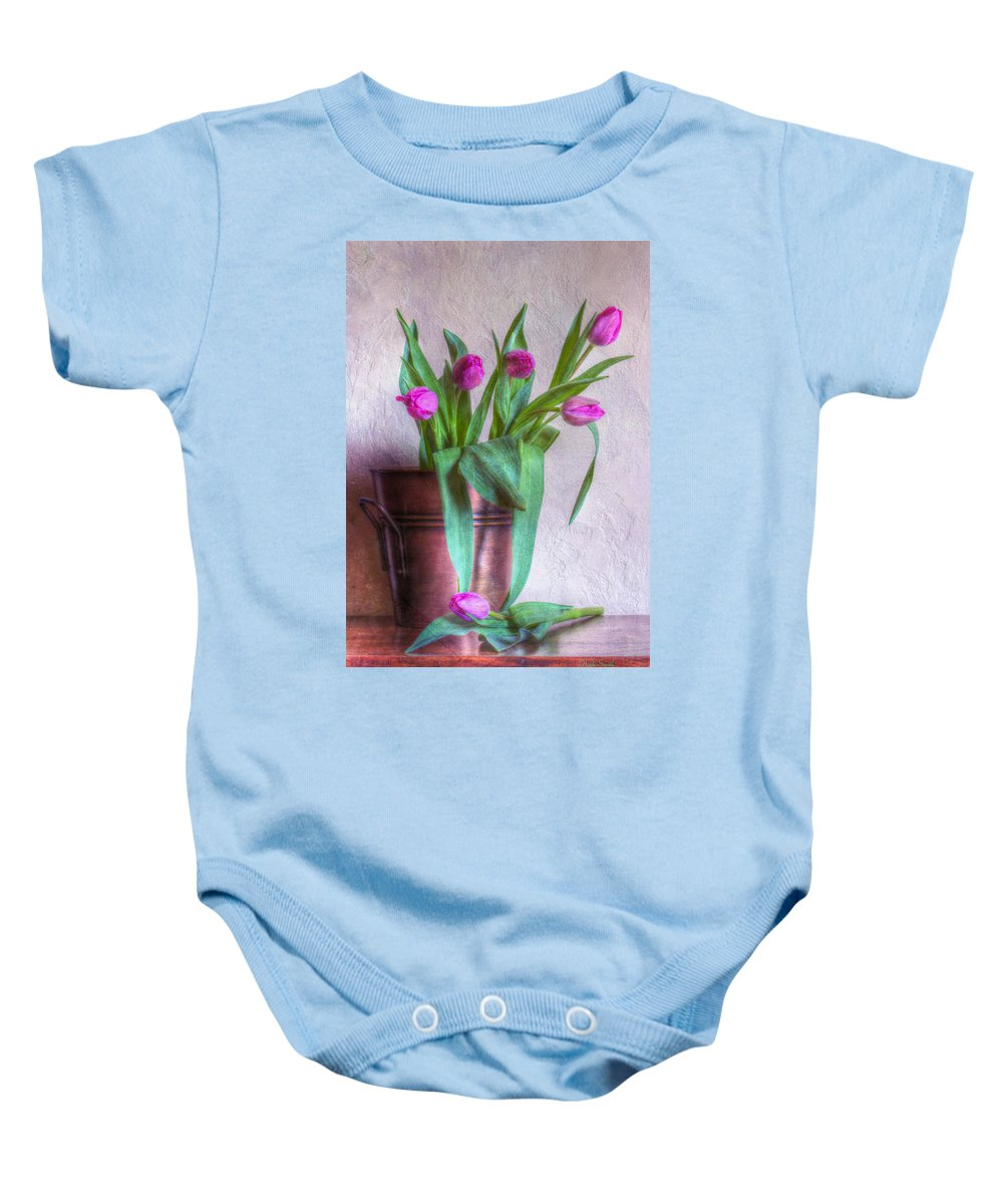 Tulip Baby Onesie featuring the photograph Seeking The Light by Heidi Smith