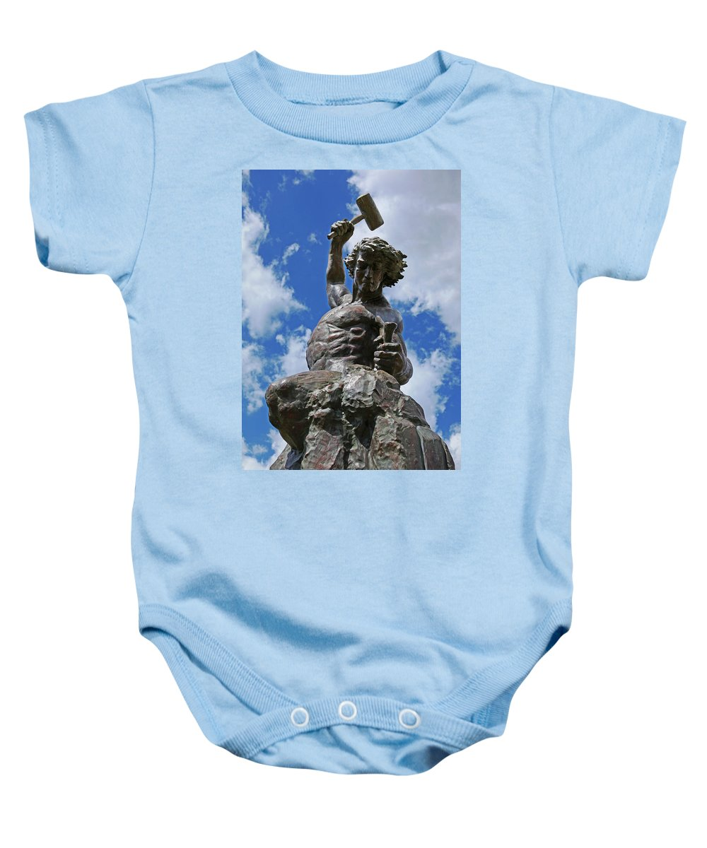 Self Made Baby Onesie featuring the photograph Self Made Man by Sheila Kay McIntyre