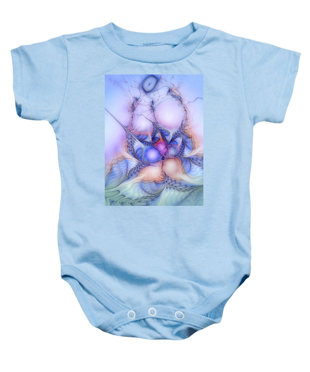 Abstract Baby Onesie featuring the digital art Sensorial Cognizance by Casey Kotas