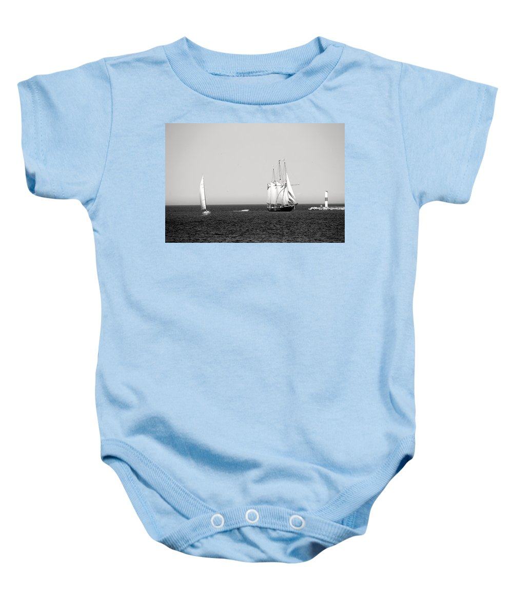 S/v Dennis Sullivan Baby Onesie featuring the photograph Serene by Debbie Nobile