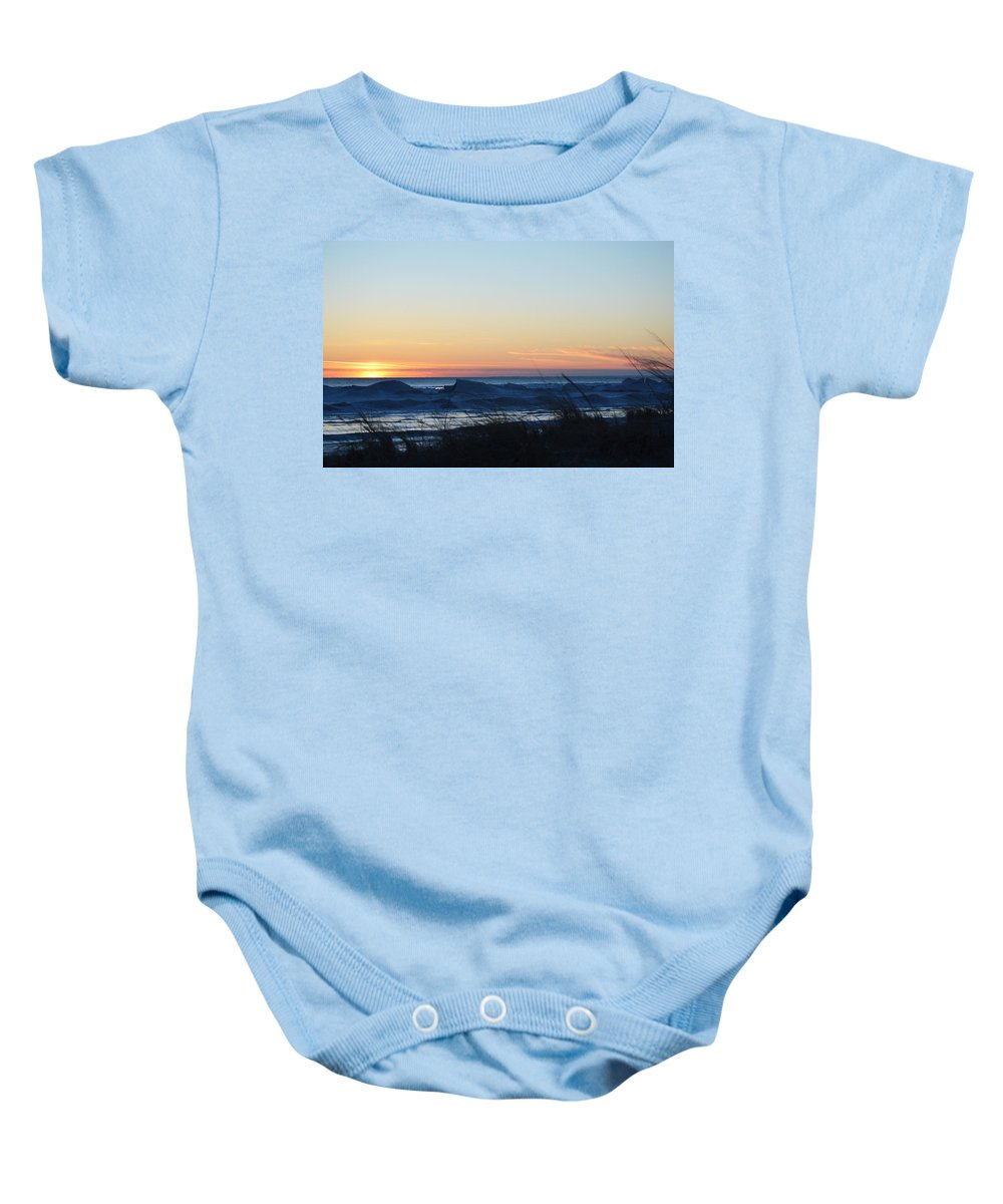 Ludington Baby Onesie featuring the photograph Serene by Linda Kerkau