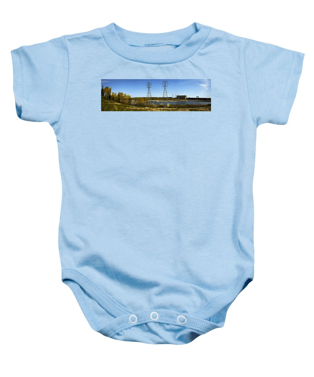 Hydro Baby Onesie featuring the photograph Seven Sisters Manitoba by Sandra Parlow
