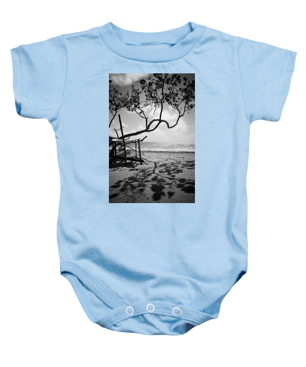 Saint Lucia Baby Onesie featuring the photograph Shadow Tree Cas En Bas by Ferry Zievinger