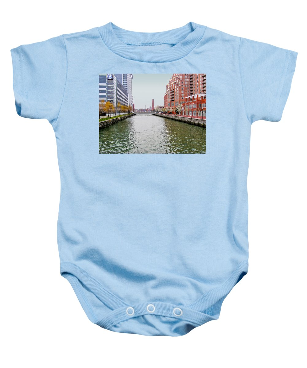 2d Baby Onesie featuring the photograph Shot Tower by Brian Wallace