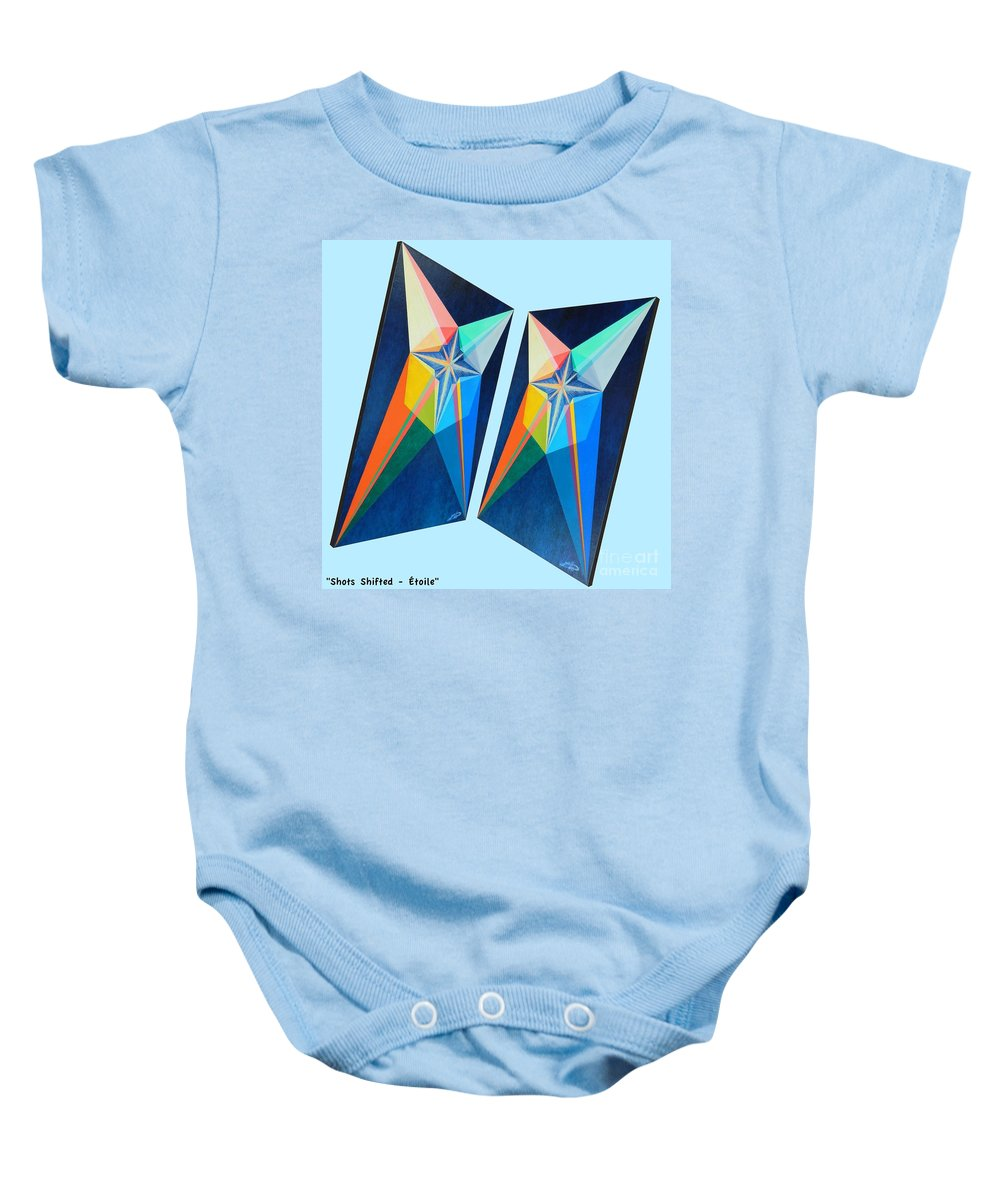 Spirituality Baby Onesie featuring the painting Shots Shifted - Etoile 4 by Michael Bellon