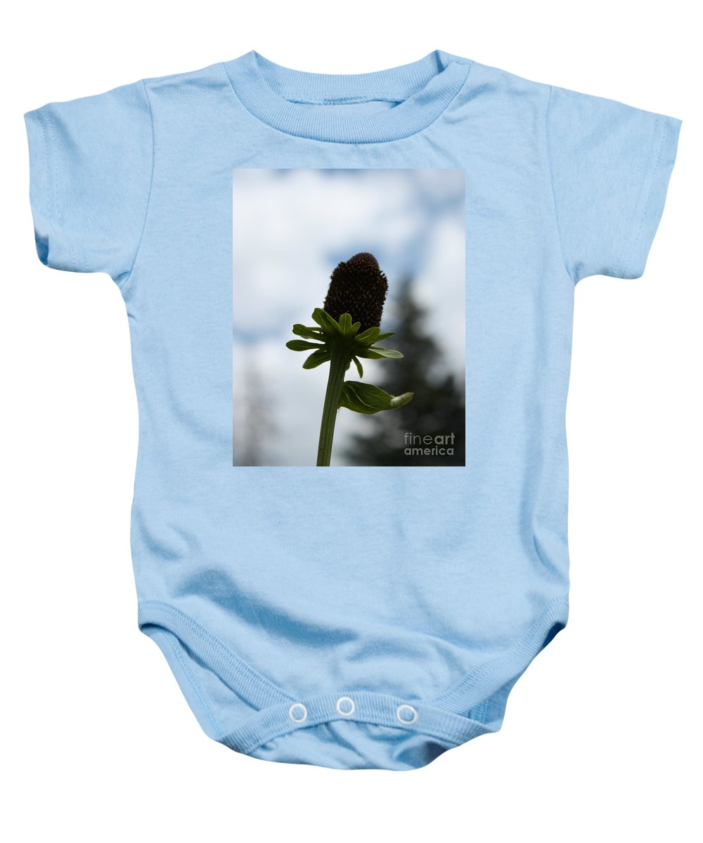 Flower Baby Onesie featuring the photograph Sky Flower by Brandi Maher