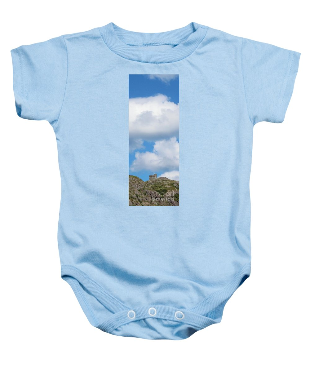 Sky High Baby Onesie featuring the photograph Sky High by Barbara Griffin