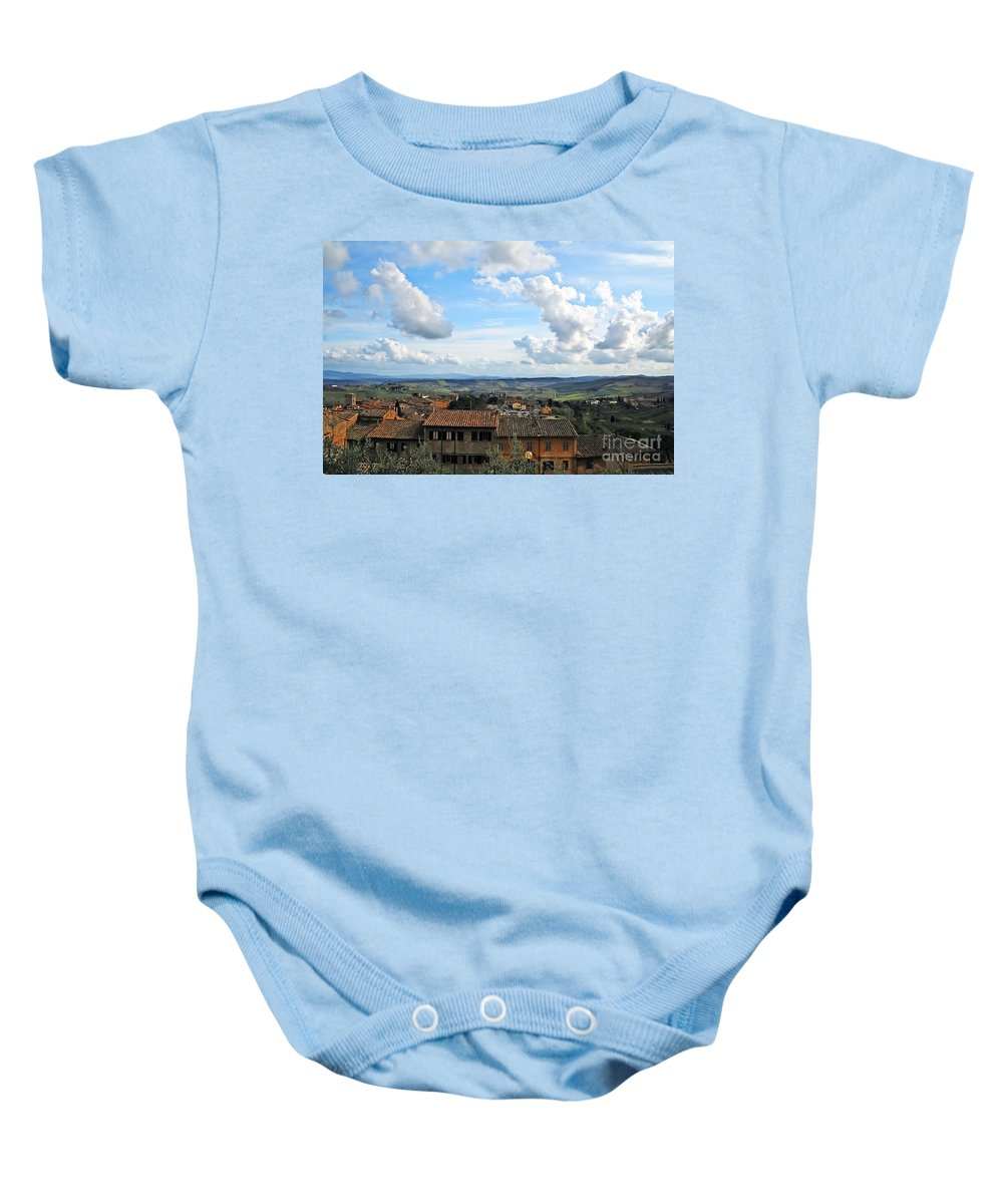 Travel Baby Onesie featuring the photograph Sky Over Tuscany by Elvis Vaughn
