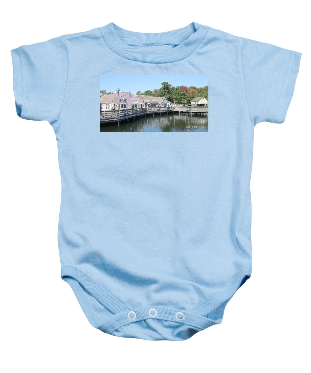 Shoppes Baby Onesie featuring the photograph Smithvilles Shoppes by Christy Gendalia