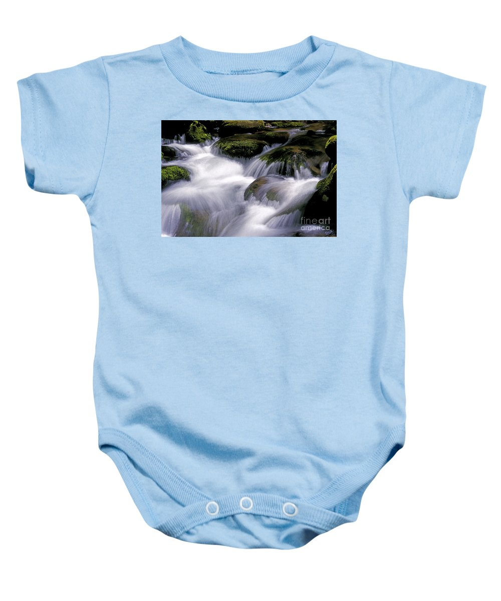 Stream Baby Onesie featuring the photograph Smoky Mountain Stream by Paul W Faust - Impressions of Light