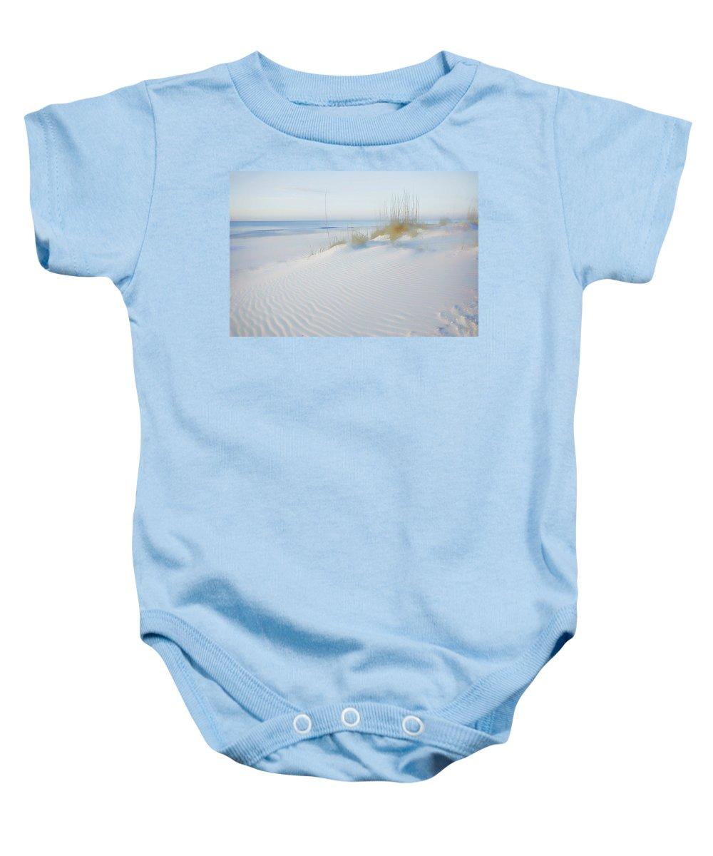 Alabama Baby Onesie featuring the digital art Soft Sandy Beach by Michael Thomas
