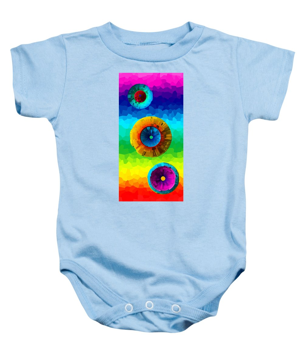 Baby Onesie featuring the mixed media Somewhere Over The Rainbow 2 by Angelina Vick