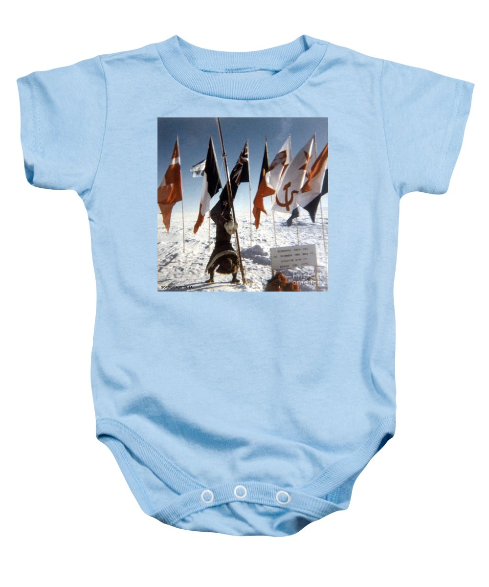 South Pole Baby Onesie featuring the photograph Southpole-antarctica-photos-2 by Gordon Punt