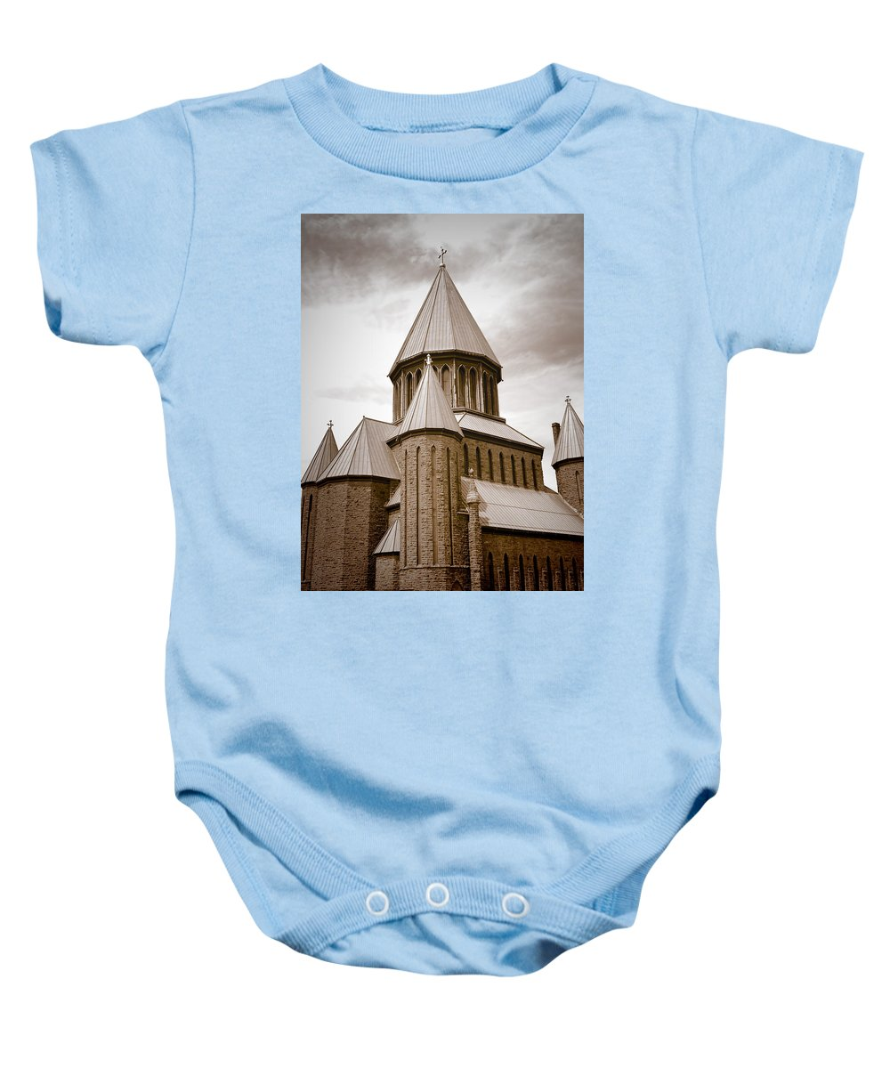 Architecture Baby Onesie featuring the photograph St John Evangelist - Schenectady by Ray Summers Photography