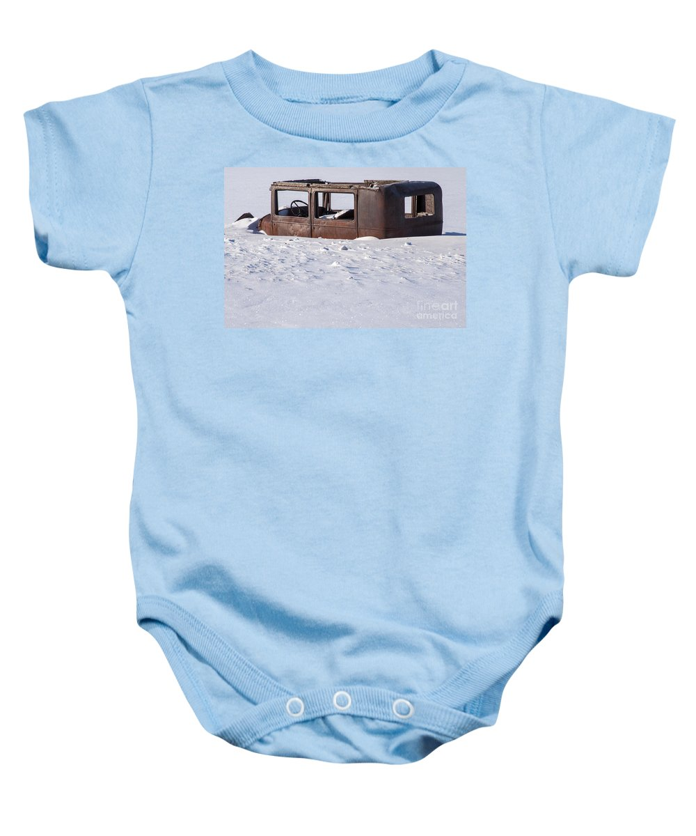 Jackson Hole Baby Onesie featuring the photograph Stalled by Bob Phillips