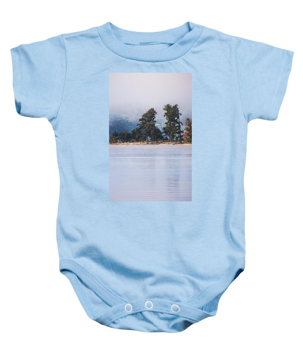 Foggy Landscape Baby Onesie featuring the photograph Standing Strong by Parker Cunningham