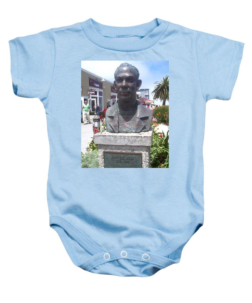 Steinbeck Baby Onesie featuring the digital art Steinbeck Or Bust by Pharris Art
