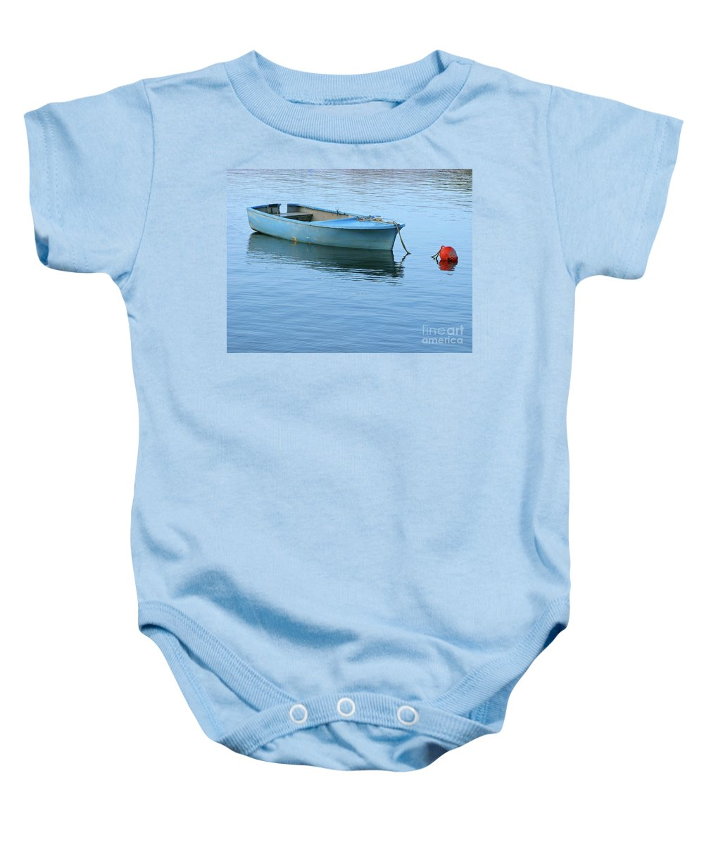 Rowboat Baby Onesie featuring the photograph Still Afloat by Ann Horn