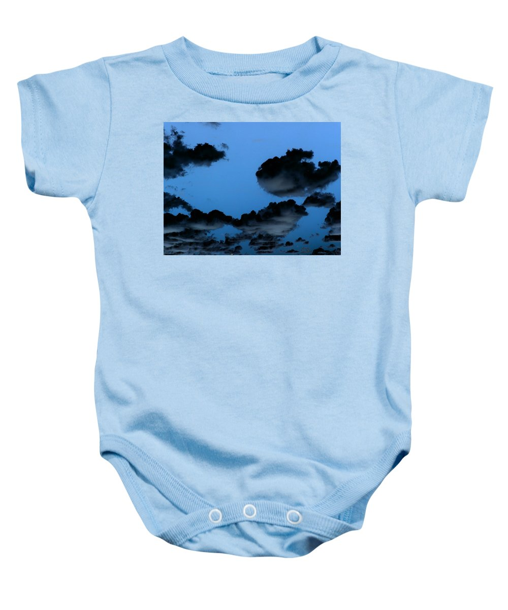 Clouds Baby Onesie featuring the painting Storm Clouds by Bruce Nutting