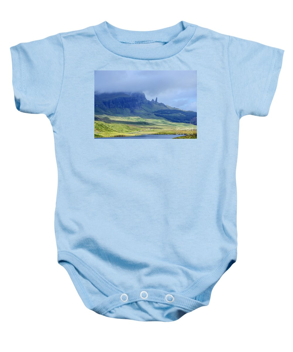 Storr Canvas Baby Onesie featuring the photograph Storr by Chris Thaxter