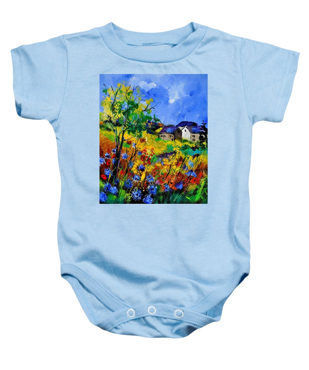 Landscape Baby Onesie featuring the painting Summer 673180 by Pol Ledent