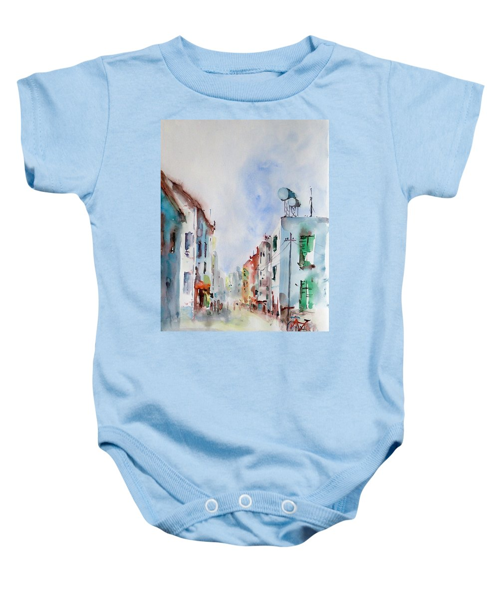 Summer Baby Onesie featuring the painting Summer Morning by Faruk Koksal