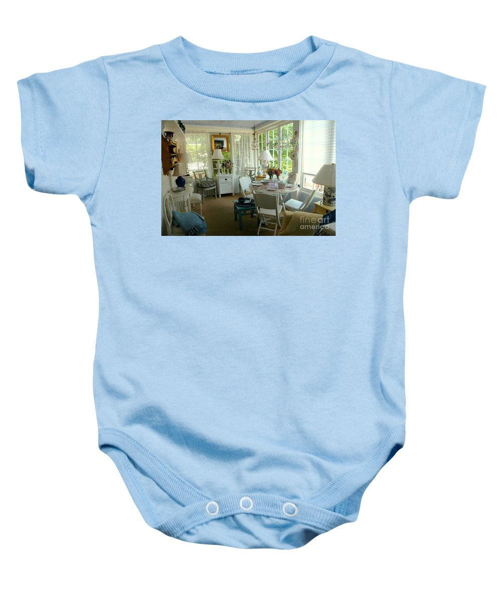 Sun Baby Onesie featuring the photograph Sun Room by Kathleen Struckle