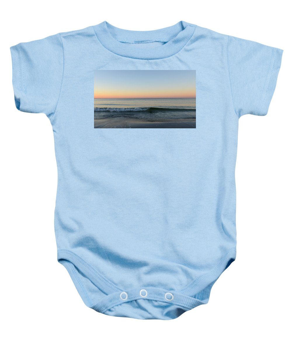 Sunrise Baby Onesie featuring the photograph Sunrise On Alys Beach by Julia Wilcox