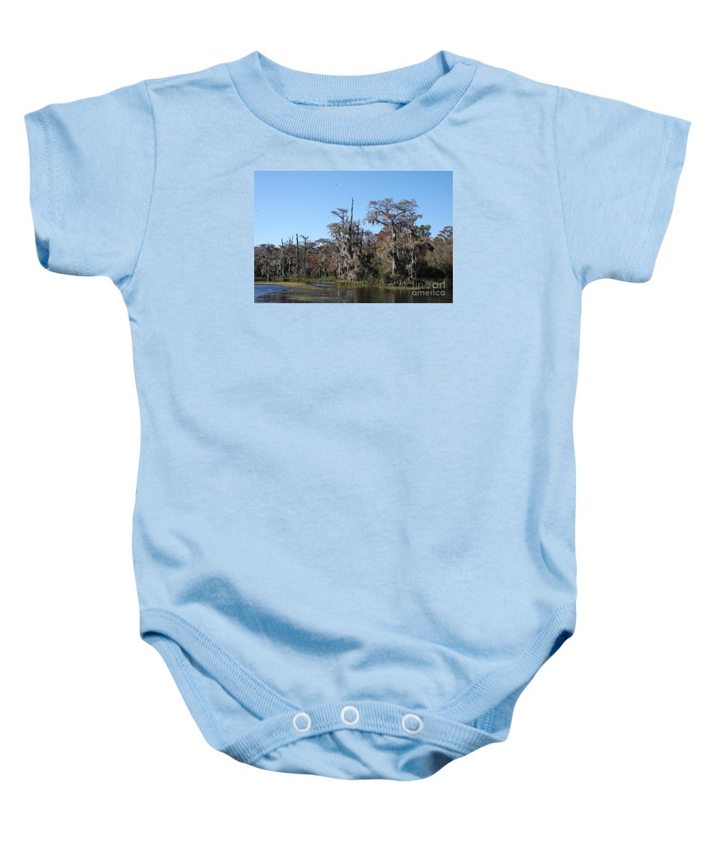 Swamp Baby Onesie featuring the photograph Swamp Serenity by Christiane Schulze Art And Photography
