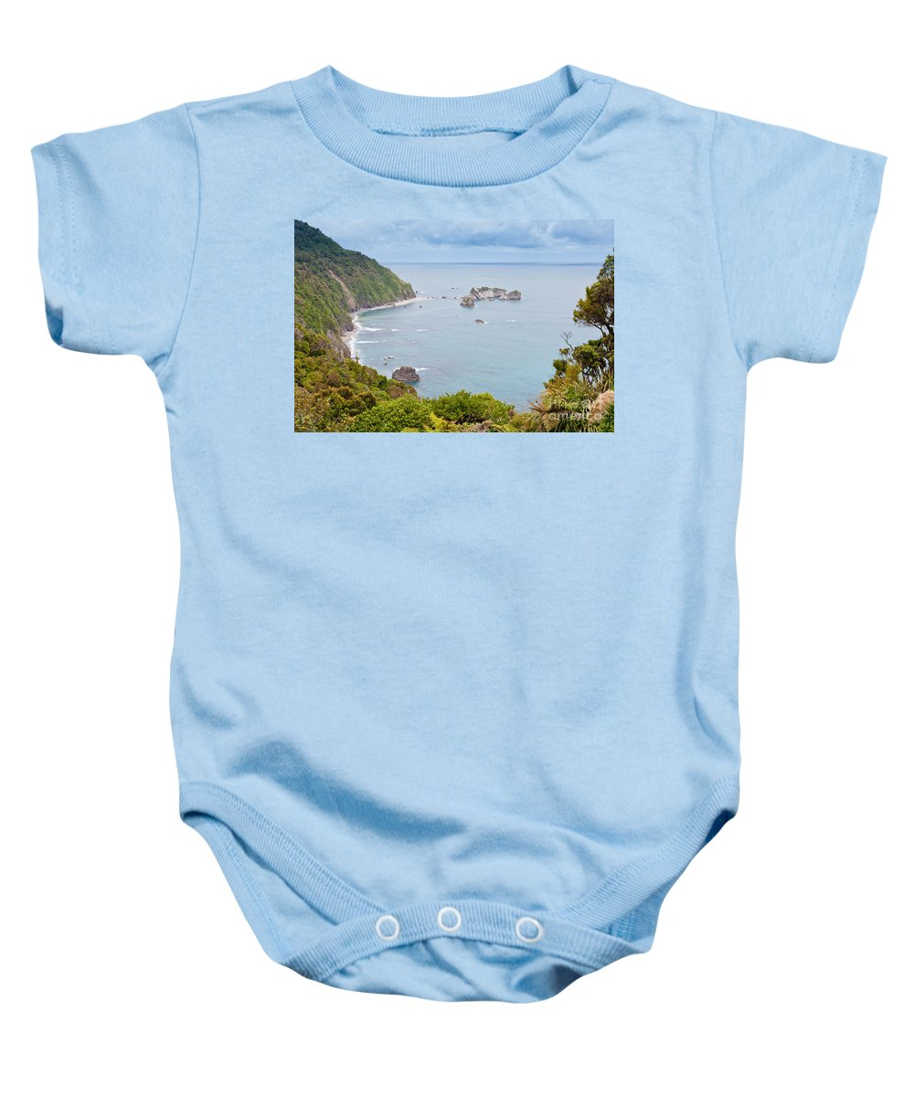South Island Baby Onesie featuring the photograph Tasman Sea At West Coast Of South Island Of New Zealand by Stephan Pietzko