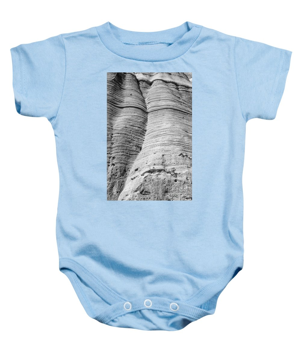 Tent Rocks Baby Onesie featuring the photograph Tent Rocks Wall by Steven Ralser