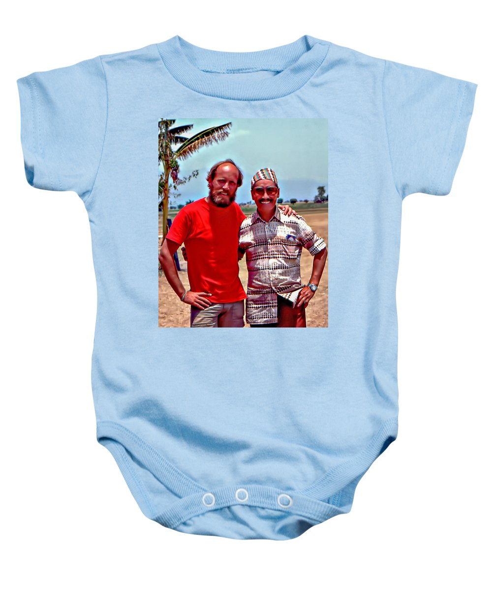 Tenzing Norgay Baby Onesie featuring the photograph Tenzing Norgay by Steve Harrington