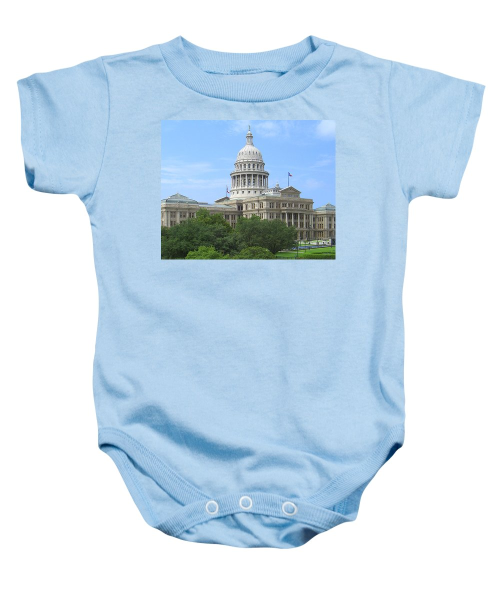Texas State Capitol Baby Onesie featuring the photograph Texas State Capitol by Jim Smith