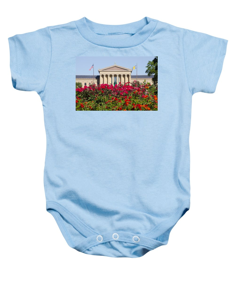 Art Baby Onesie featuring the photograph The Art Museum In Summer by Bill Cannon
