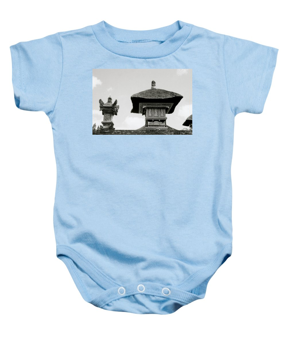 Bali Baby Onesie featuring the photograph The Bali Temple by Shaun Higson