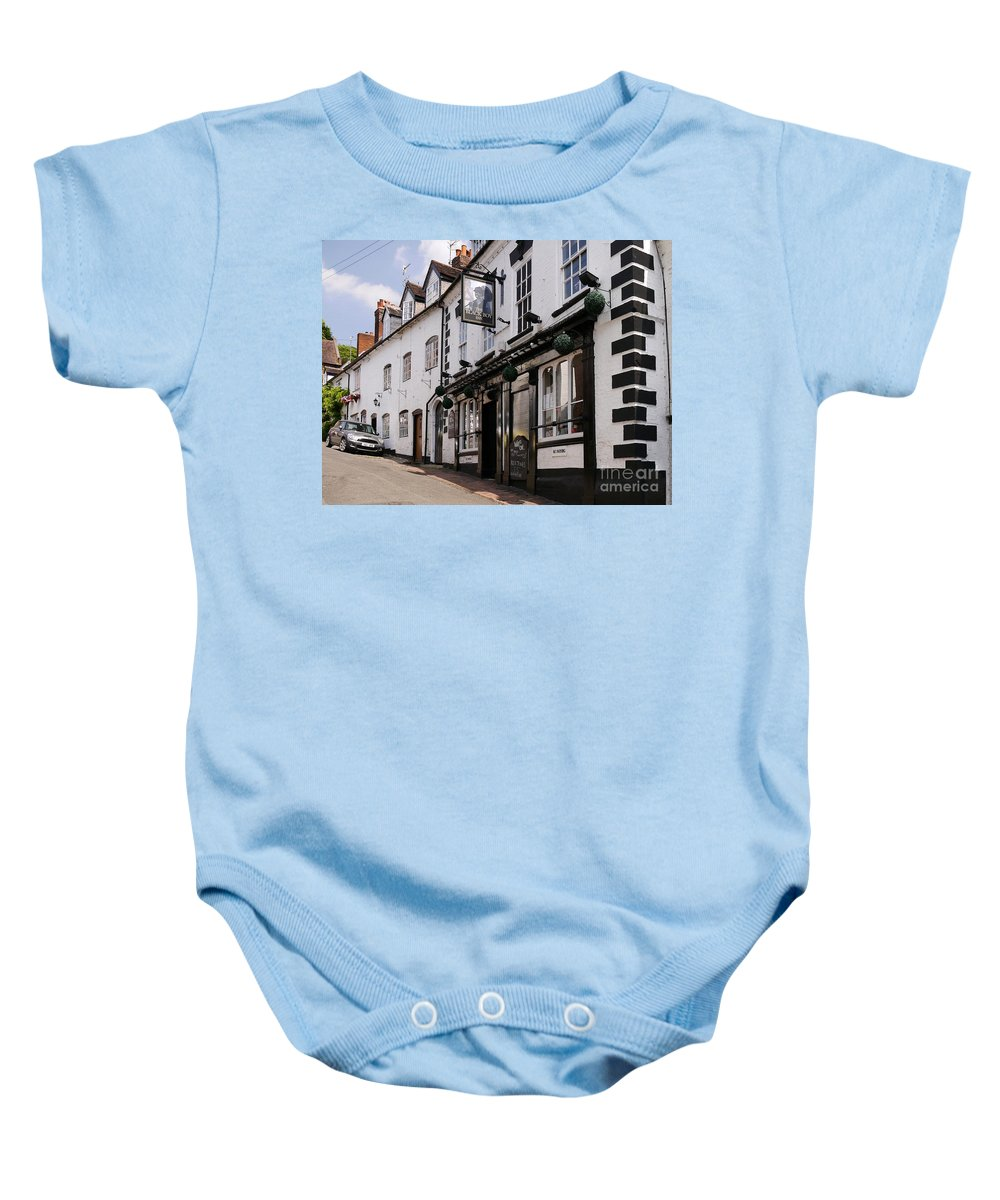 Inn Baby Onesie featuring the photograph The Black Boy Inn by John Chatterley