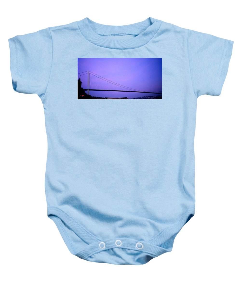 Bridge Baby Onesie featuring the photograph The Bridge by Shaun Higson