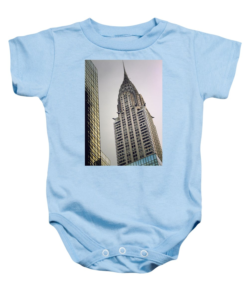 Chrysler Baby Onesie featuring the photograph The Chrysler by Karol Livote