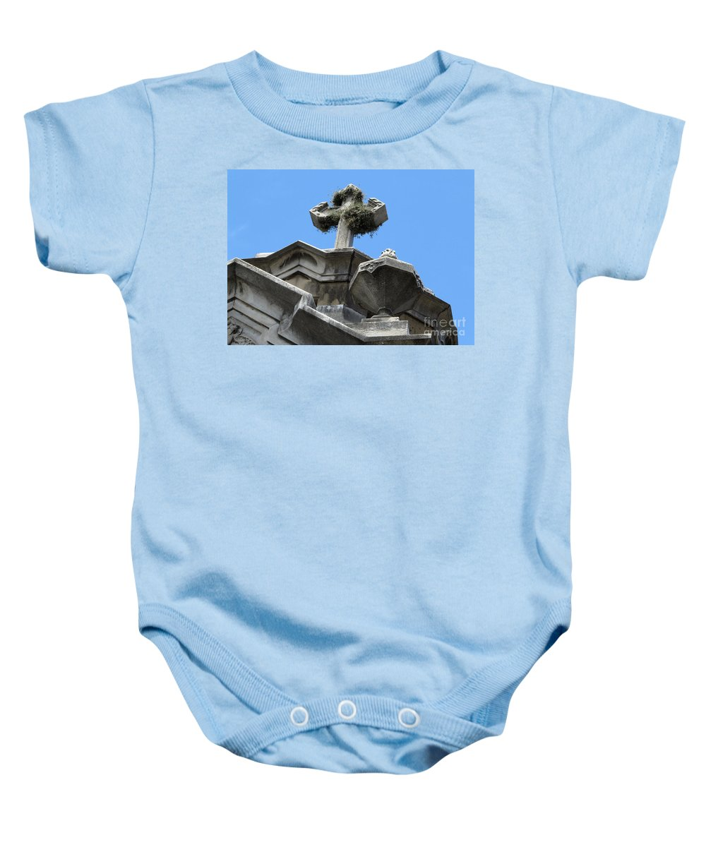 Crosses Baby Onesie featuring the photograph The Cross by Vivian Christopher