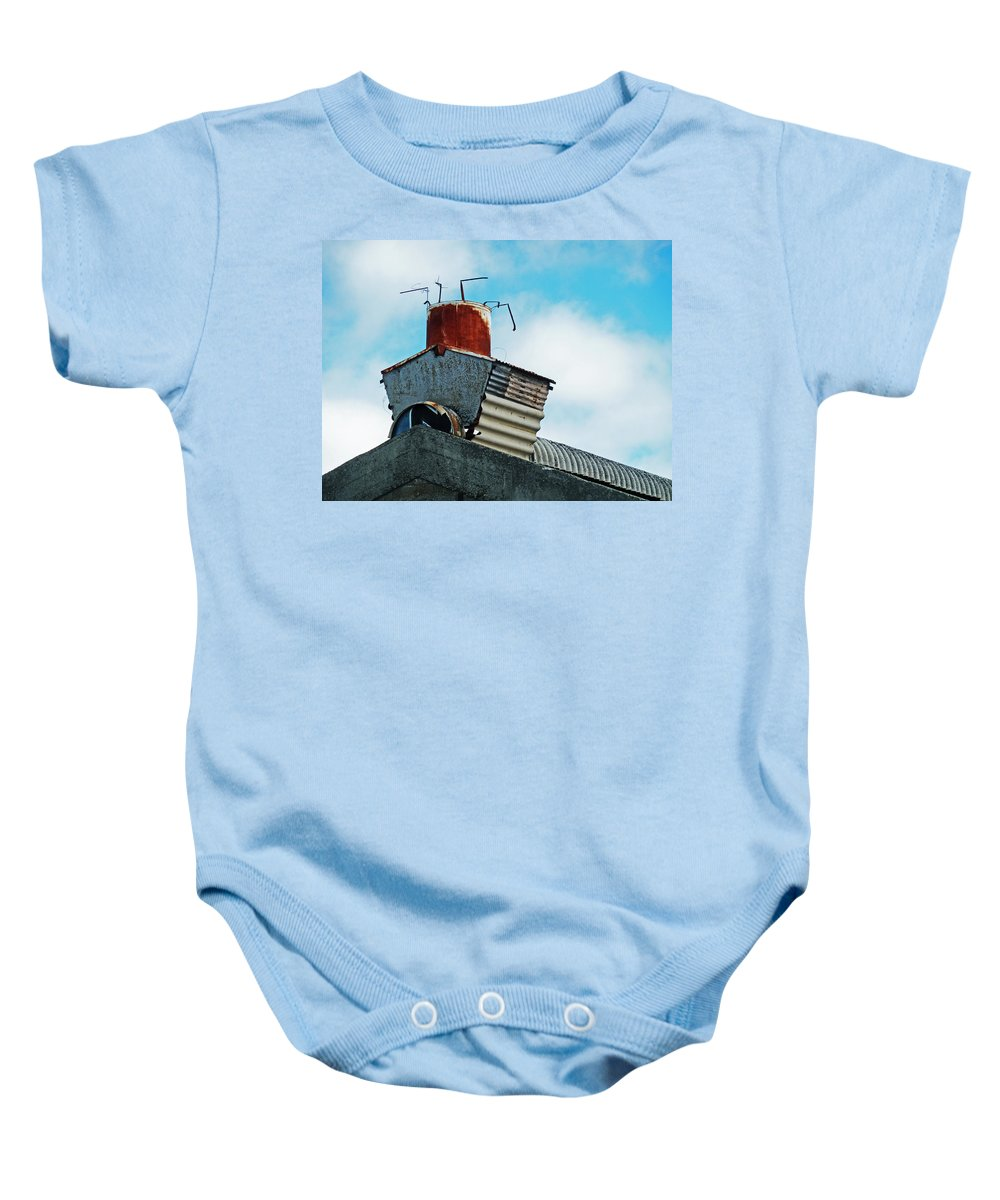 Chimney Baby Onesie featuring the photograph The Diy Chimney by Steve Taylor