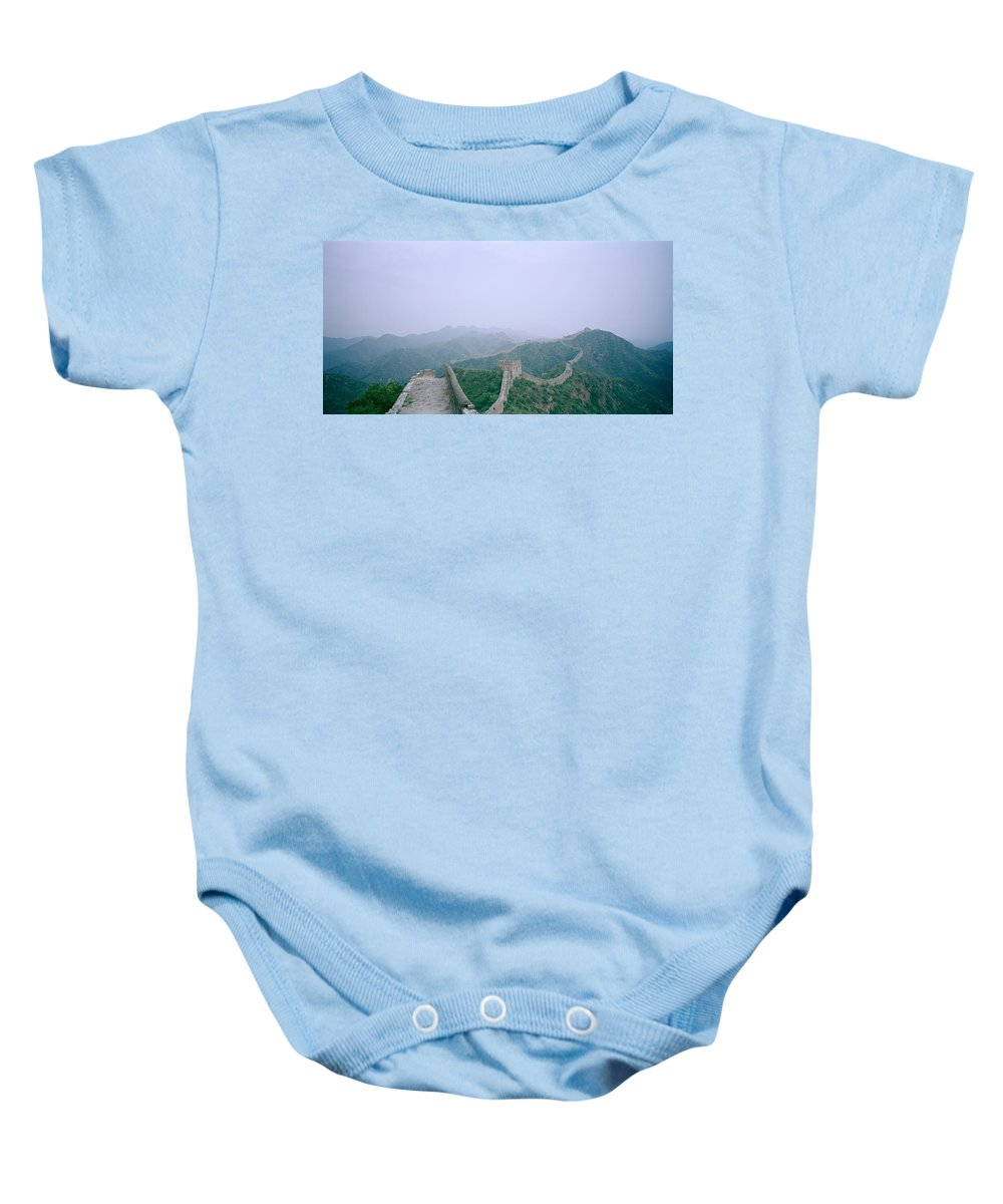 Great Wall Of China Baby Onesie featuring the photograph The Great Wall Of China by Shaun Higson