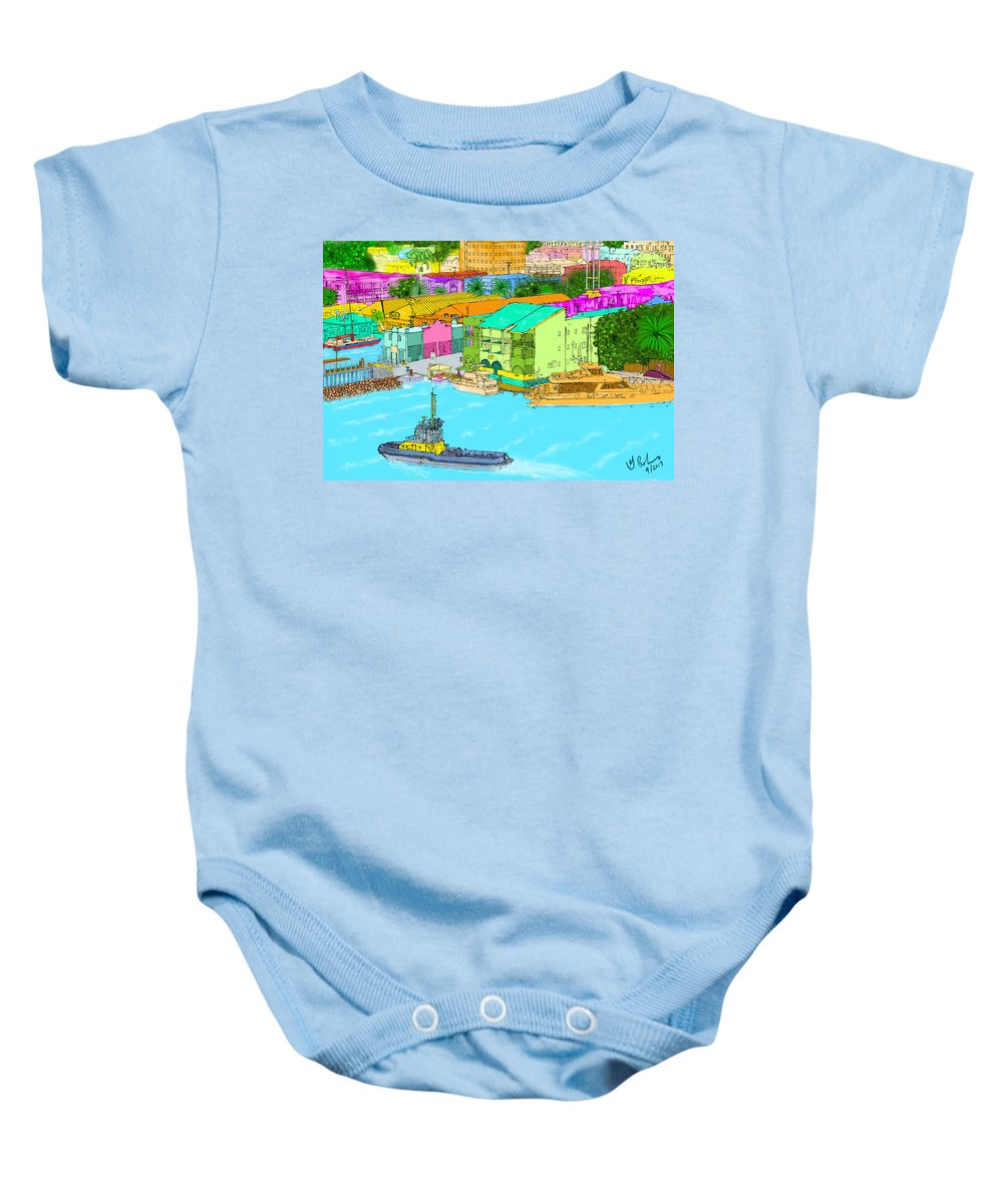Painting Baby Onesie featuring the painting The Inlet by Gerry Robins
