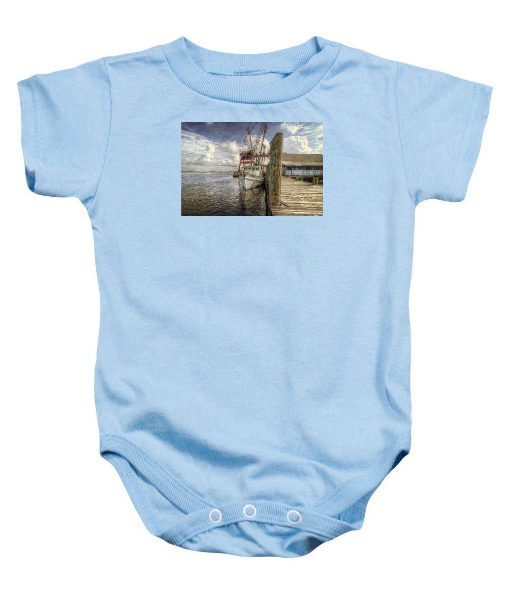 Shrimp Baby Onesie featuring the photograph The Jet Steam II by John Adams