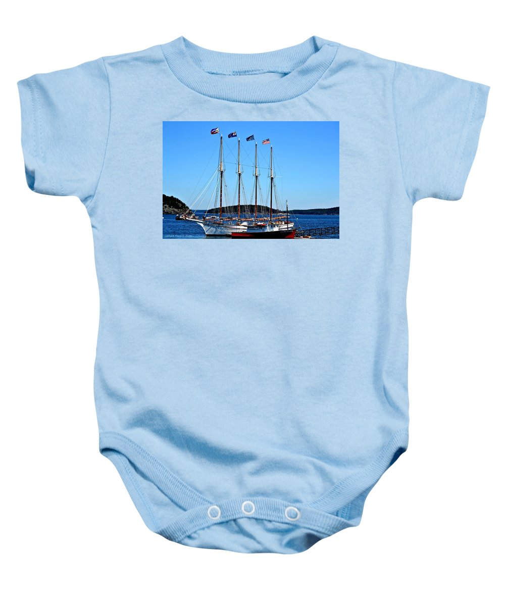 Margaret Todd Baby Onesie featuring the photograph The Margaret Todd by Tara Potts