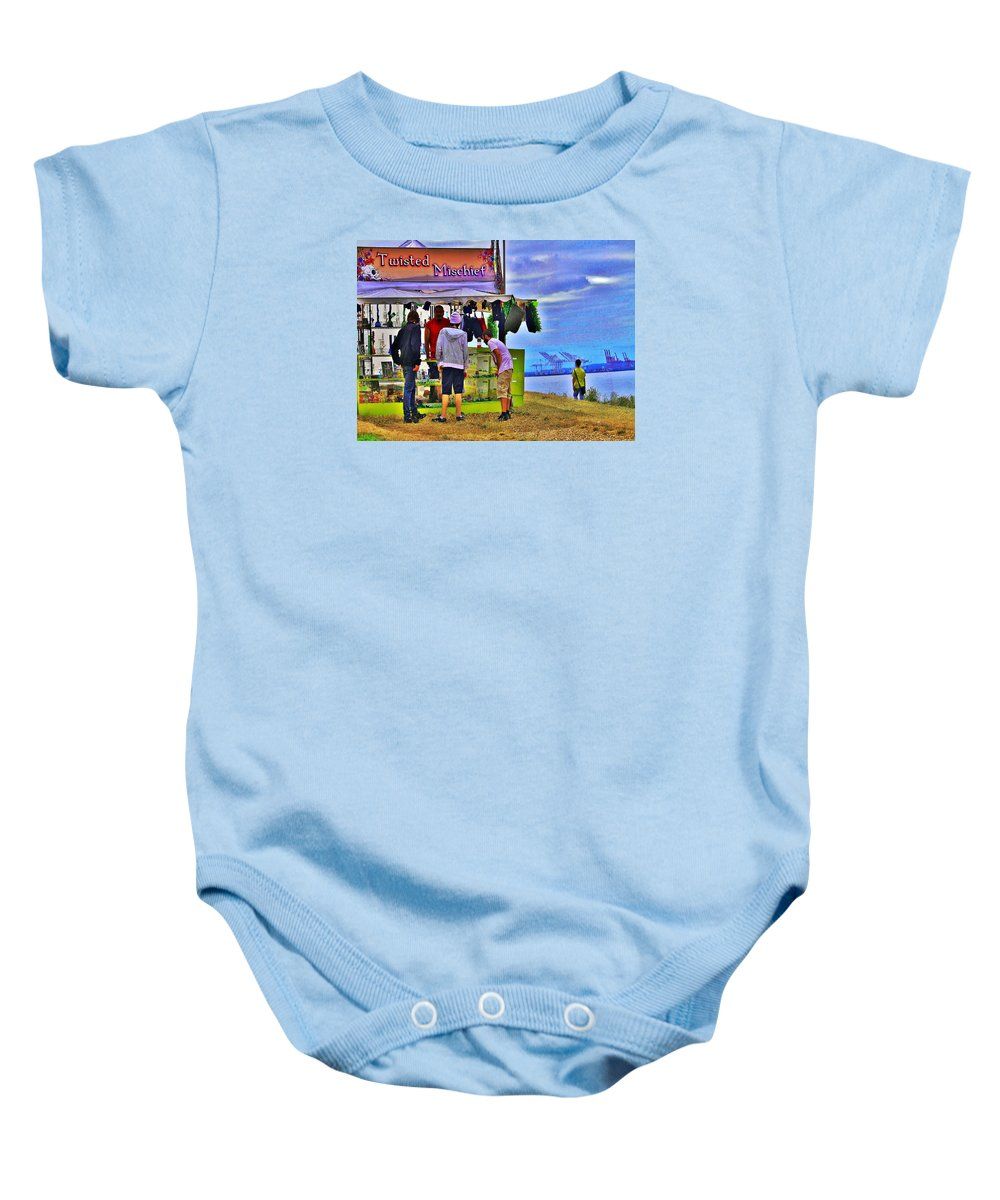 Hempfest Baby Onesie featuring the photograph The New High Times by William Rockwell