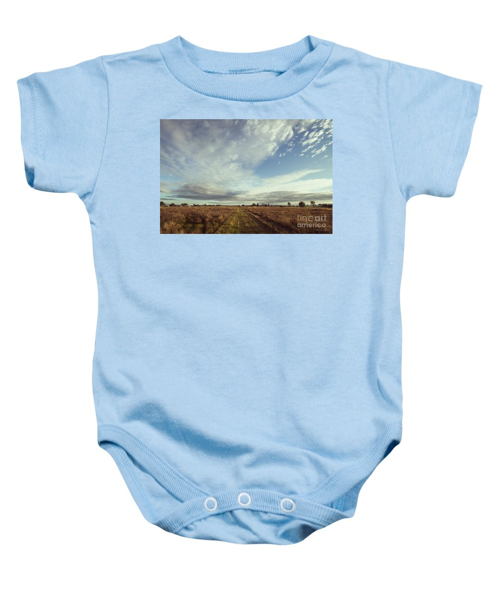 Rural Baby Onesie featuring the photograph The Place I Love by Linda Lees