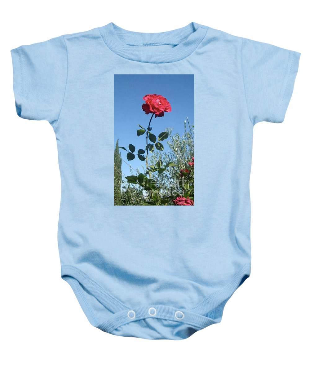 Rose Baby Onesie featuring the photograph The Rose by Christy Gendalia