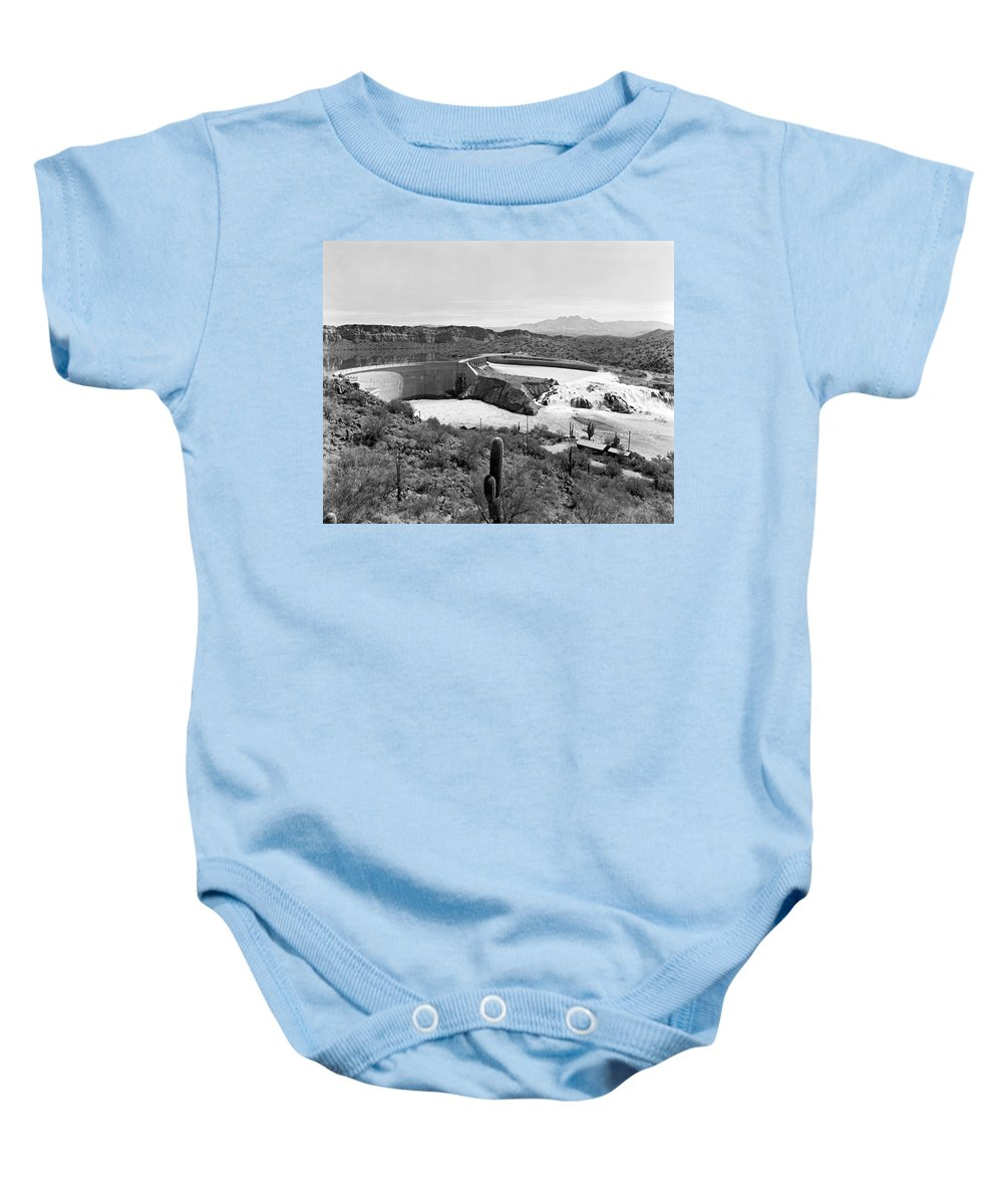 1941 Baby Onesie featuring the photograph The Salt River In Arizona by Underwood Archives